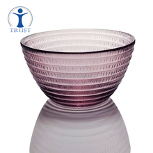 Wholesale High Quality Personalized Cheap Colored Glass Salad Fruit Bowl For Home And Restaurant