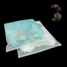 frosted plastic eva swimwear bag/ underwear packaging bags with zipper