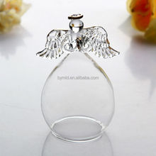 Transparent lampworking glass angels statues