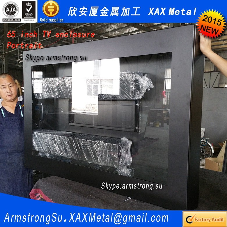 XAX159TVE exterior water proof waterproof stainless steel how to protect a tv advertising display enclosure