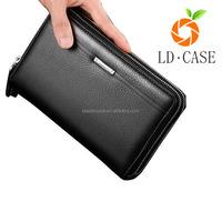 High Quality Leather Business Clutch Wrist Bag Handbag Wallet
