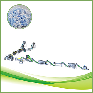 Color PET flake recycling and sorting line CE ISO Approved