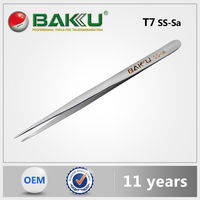 2016 new BAKU High quality T7 SS-Sa AntiMagnetic Precision Pointed Tip Tweezer for industry