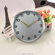 Silver Quartz Wall Clock with Quiet Sweep Second Hand