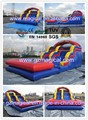Super Splash Inflatable Wet And Dry Slide With Pool
