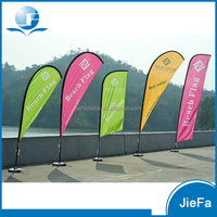 Waterproof Beach Flag Banner Single Side Feather Flag