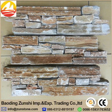 Chinese Yellow Slate Exterior Stone Wall Tiles Decoration On Sale