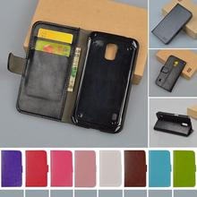 For Samsung Galaxy G800 Case Flip PU Leather Wallet Cover For Samsung Galaxy S5 mini G800 Stand Phone Skin Bags