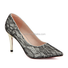 Wholesale 2016 beautiful fashion new style flower patterned women classy sexy high heel shoes