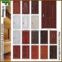 white/ash/teak/sapeli/oak HDF/MDF moulded veneer door skin