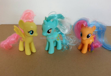 Hot sell cute 3D pony toy with hair
