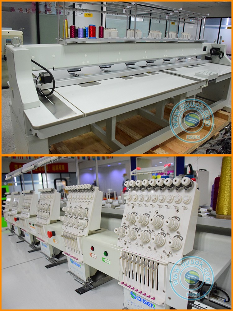Automatic thread cutting inbro lace sequence beading embroidery machine 6 heads for baseball cap