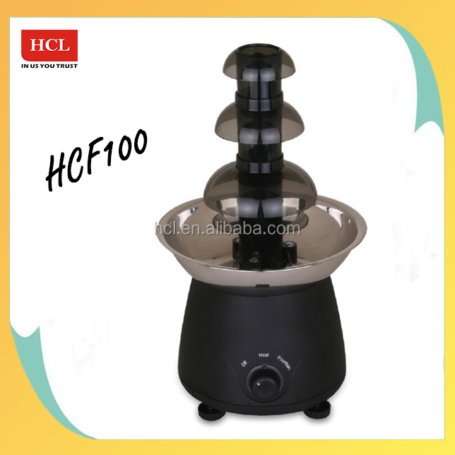 Plastic tower electric small led chocolate fountain base For CE