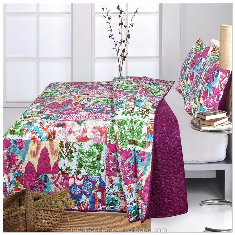 china supplier indian style queen summer Bedding Sets/ Quilt/ bedspread