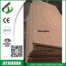 Cheap mahogany veneer hollow core plywood flush door easy installation