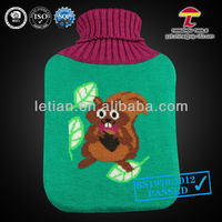 High quality 2000ml BS hot water bag with squirrel knitted cover