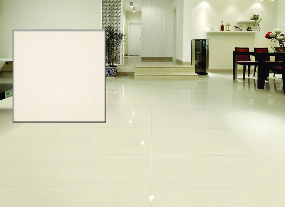 China Farsh Looking White Polished Porcelain Floor Tiles 600x600