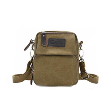 Man Fashion Vintage Canvas Resistant Cross Body Shoulder Bag Messenger Bag