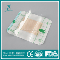 medical adhesive polyurethane film island transparent wound dressing