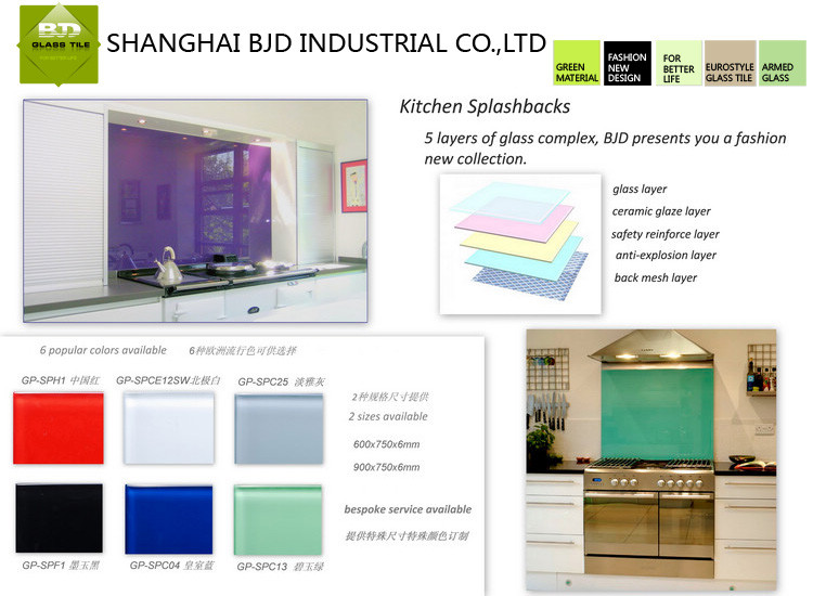 Fire Resistant Ceramic Glass For Glass Splashbacks