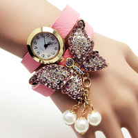 Good price vintage leather watch wrist watches sexy ladies watch bracelet