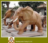 high quality pink marble elephant sculpture