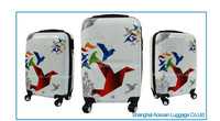 Print hard luggage ABS PC trolley Luggage Beautiful colorful printed hard luggage