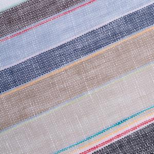 100% Pure Flax French Linen Stripes fabric Wholesale, Yarn Dyed Colorful Linen Stripe fabric for linen pants, linen cloth
