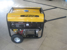 CE with wheel kits high quality 6kw electric start gasoline Generator (WH7500)
