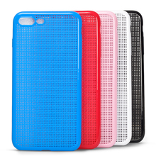 DFIFAN high quality fashionable Dot View Silicone Phone Cover Case for iphone 7 protective Cover Shell for iphone 7 plus