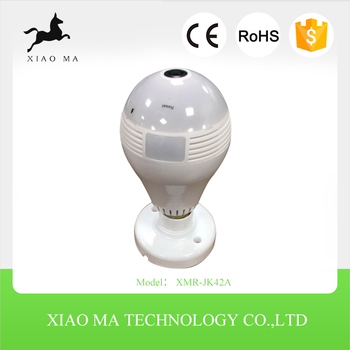 new Light Bulb wifi fisheye IP camera 360degree panoramic XMR-JK42A
