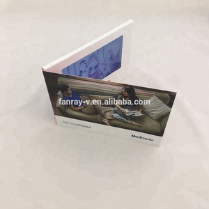"7"" video player greeting card, lcd greeting brochure, customized video card supplier"