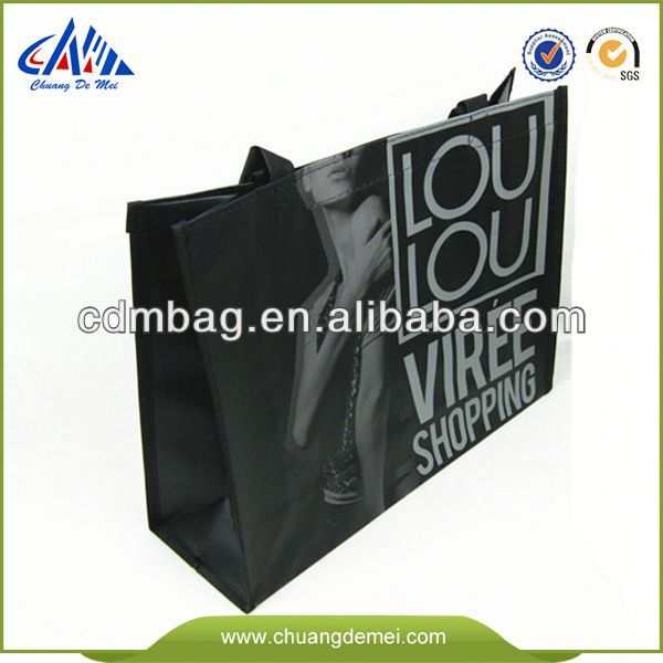 China Green Laminated pp woven rubbish bag