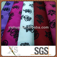 190T Polyester Flock Taffeta Cloth for Garment