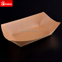 Ecokraft Custom Printed Brown Kraft Paper Food Tray 27 oz