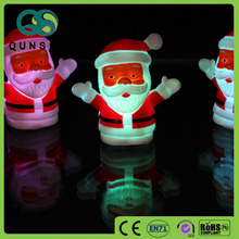 Soft plastic led flash night santa claus