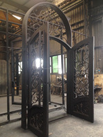 2016 new grand luxury moden double iron exterior door made in OEM facotry located in Xiamen China