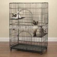 New Model Foldable Indoor Cat Cage, Metal Cat Cage, Large Cat Cage
