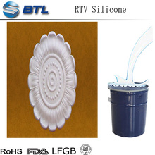 Stone molds silicone rubber/ gypsum molds making liquid in form RTV2 liquid silicone