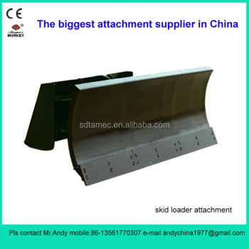 skid steer loader attachment dozer blade,skid loader attachment,bobcat attachment