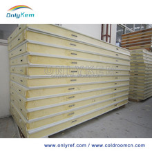 prefab house cold room pu insulated exterior roof panel