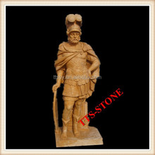 Stone Ancient Roman Soldier Statue