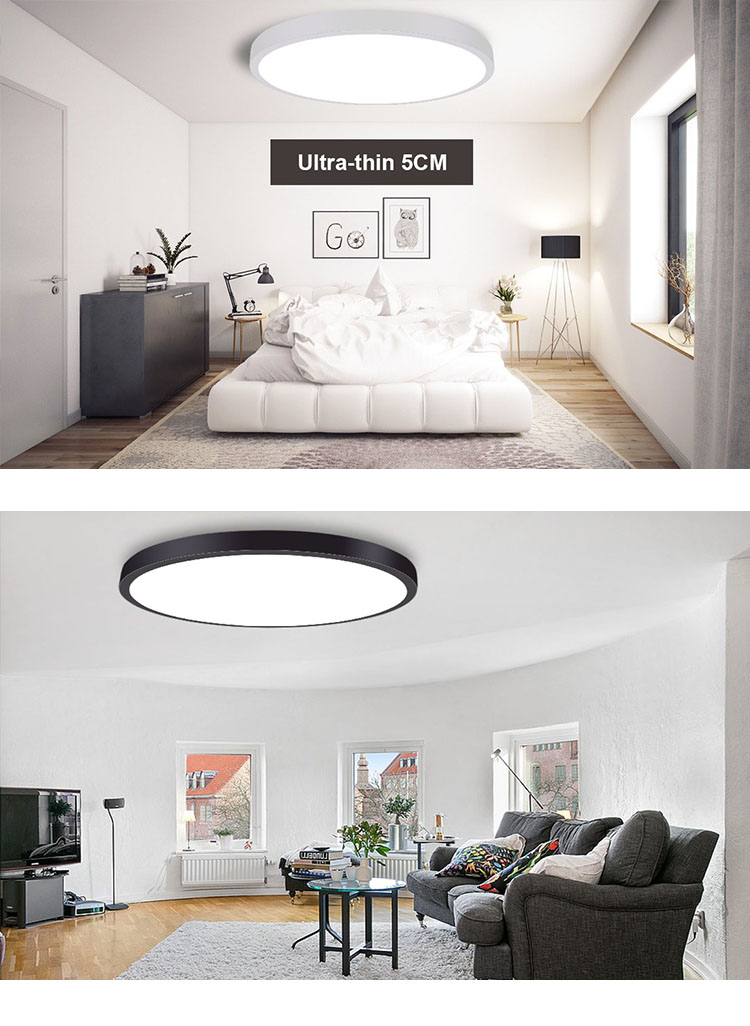 48W 600MM Modern Round Changeable Mounted led ceiling light with Controller