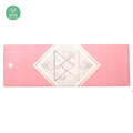 Light weight screen printing foldable travel yoga mat private label fitness wholesale gym mats