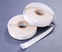 heat seal iron on hot melt polyester taffeta label tape for sport shoes label