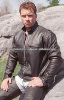 Motorcycle/Bikers Black Leather Racing Style Leather Jacket