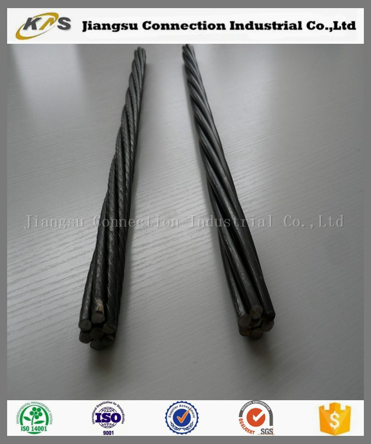 Building material 15.24mm 1X7 wire prestressing steel strand low price