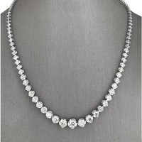Fashion Jewelry Tennis Chain CZ 18 Inches 3.00 CT T.W. Diamond Tennis Necklace
