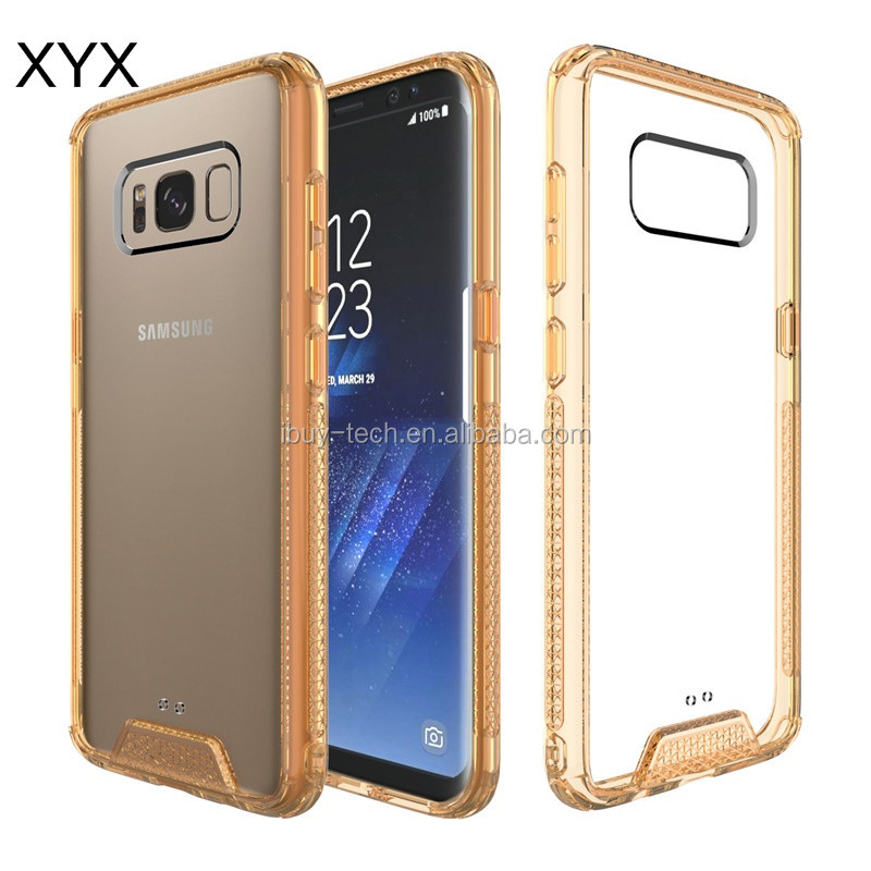 Popular style clear tpu acrylic hybrid mobile phone case for samsung galaxy s8