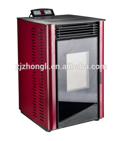 Elegant economy cheap double doors double glass comprehensive view firesecurity pellet stove